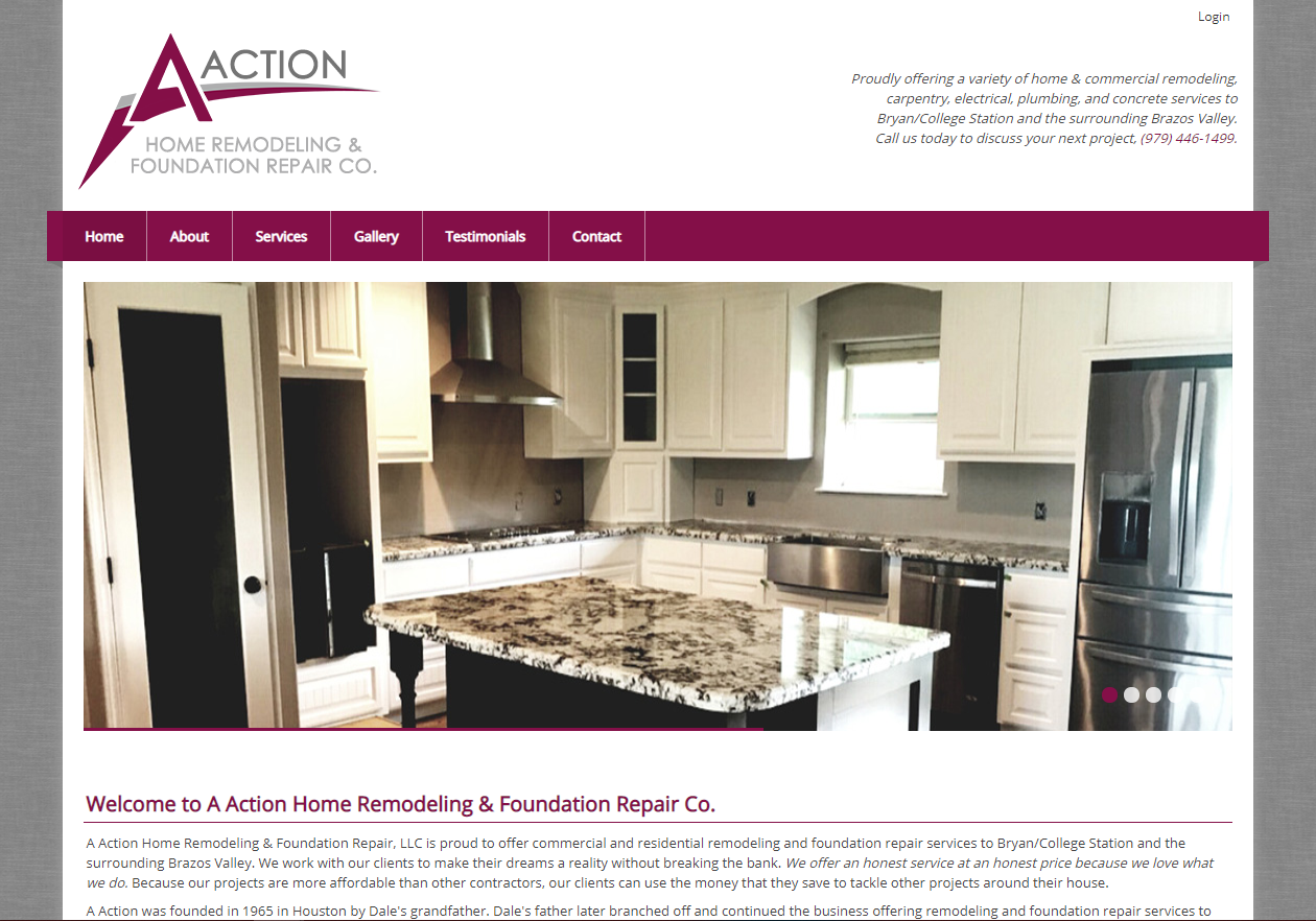 New Website for AAction Home Remodeling & Foundation Repair, LLC