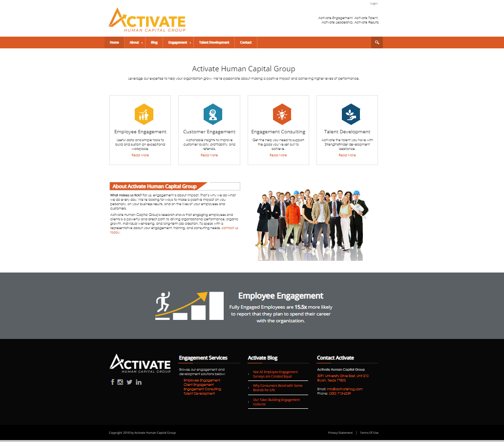 New Website Launch - Activate Human Capital Group