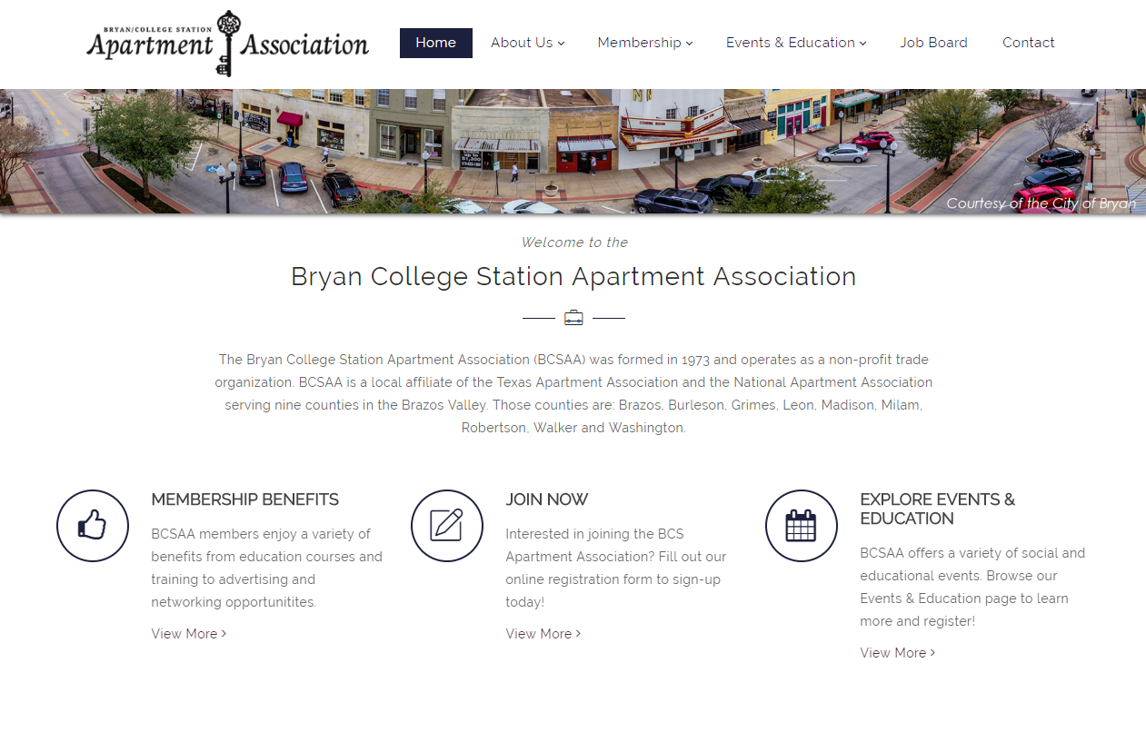 New Website for Bryan College Station Apartment Association