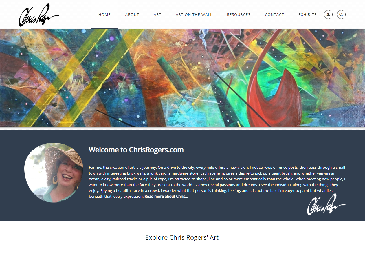 New Website for Chris Rogers