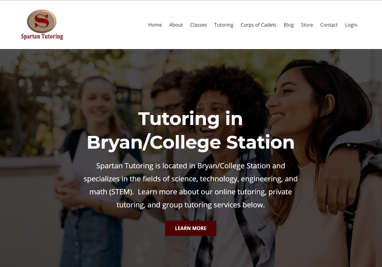New Website - Spartan Tutoring