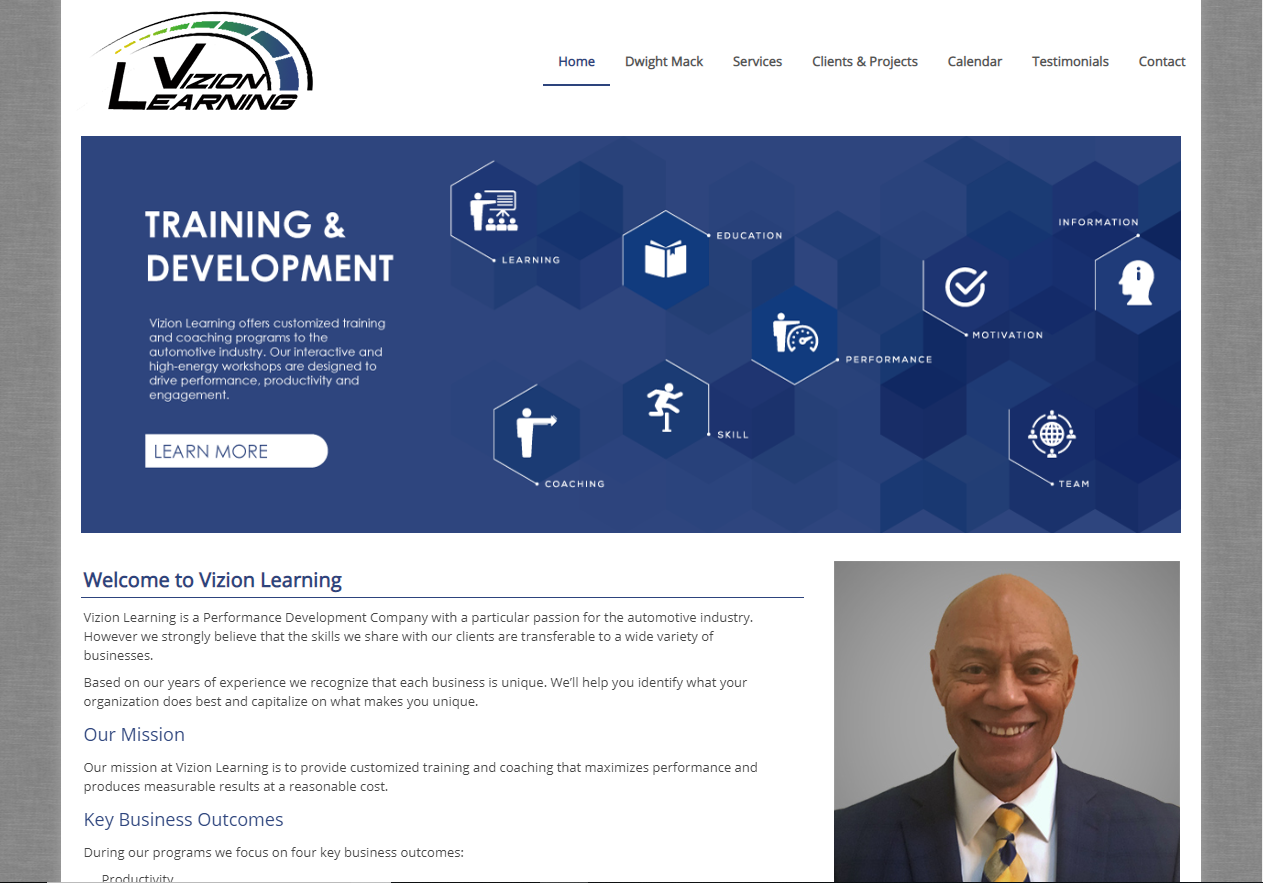 New Website for Vizion Learning