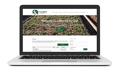 New Website Launch: California Ag Chat