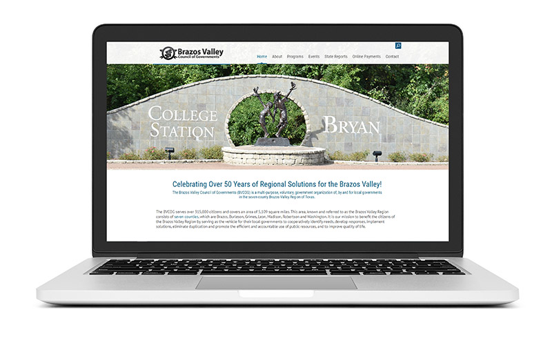 New Website Launch: Brazos Valley Council of Governments