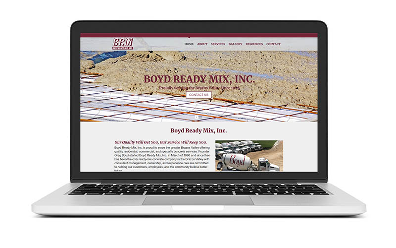 New Website Launch: Boyd Ready Mix, Inc.